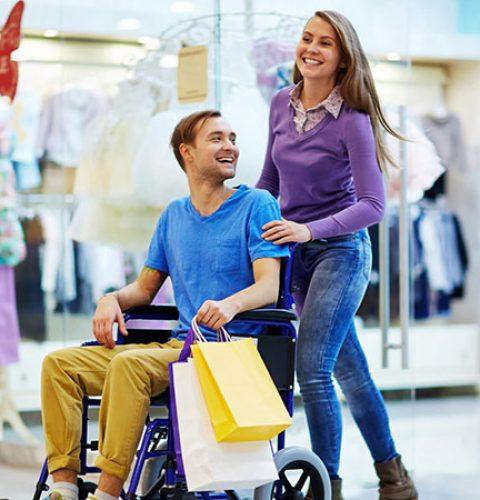 a happy couple in Dubai Mall