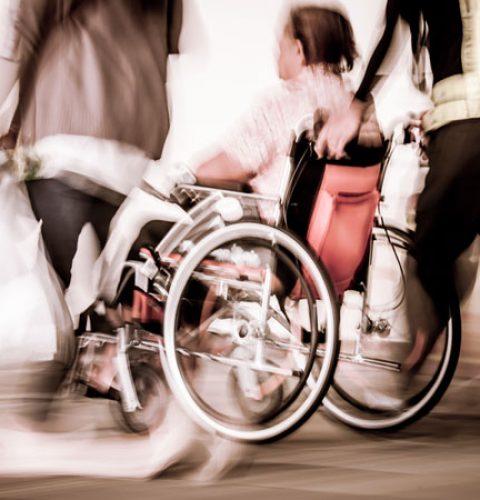 a person on a wheelchair
